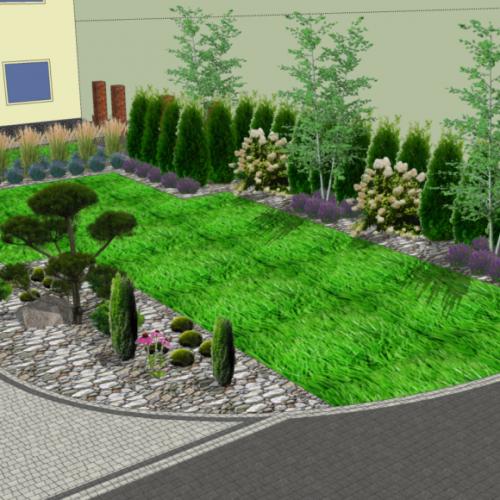 Projekt Ogrodu Bełchów - Ekoland-Ogrody