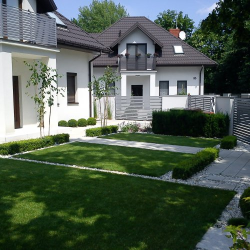 Ogród Skierniewice - styl minimalistyczny - Ekoland-Ogrody
